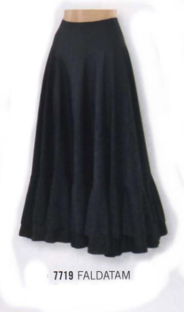 Na flamenco bodydosvol tříčtvrteční rukáv černé 7719 sukně na